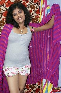 Sexy Indian Babe Rupali Hot Night Dress