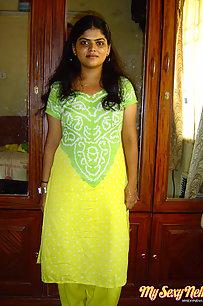 Sexy Neha Bhabhi Green Shalwar Suit Naked
