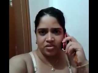 Indian Housewife In White Lingerie