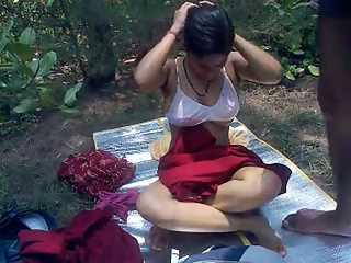Indian Bhopal Couple Jungle Sex Scandal