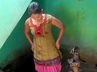 Palak Bhabhi Dressing Up After Shower