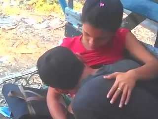 Indian Lovers Sucking In Public Park