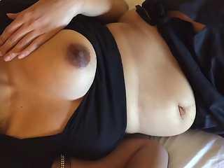 Big Brown Nipple Bhabhi Hot Blowjob